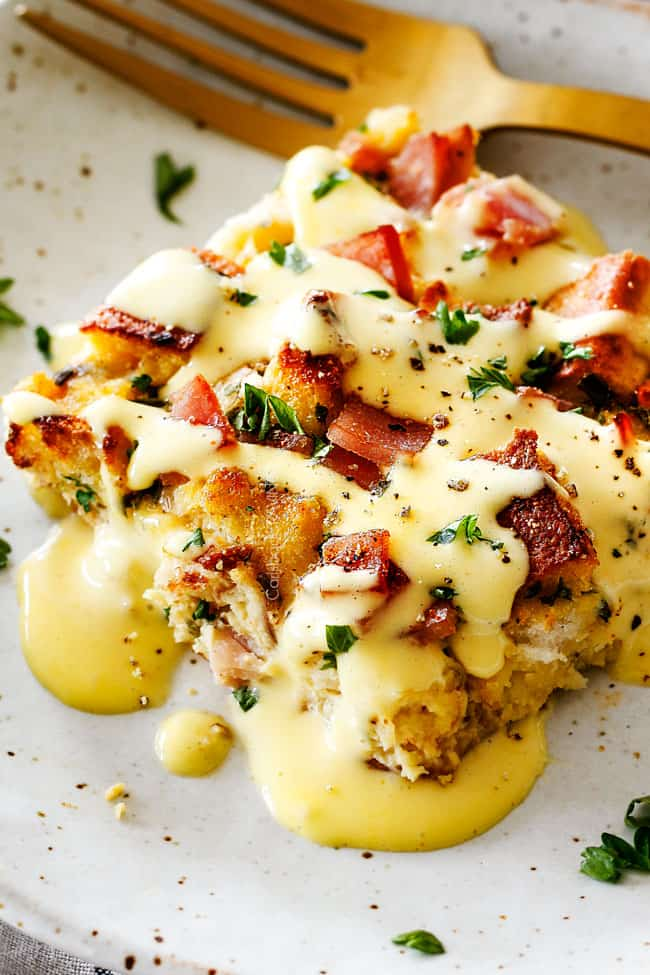 Eggs Benedict Casserole with Blender Hollandaise